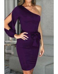 Šaty - kód 0579 - 2 - tmavě fialová
