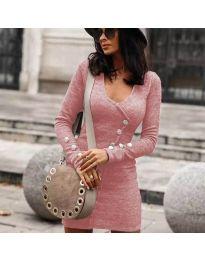 Šaty - kód 4516 - ružová