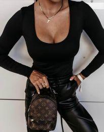 Изчистена дамска блуза в черно - код 11755