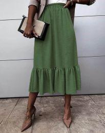 Sukňa - kód 3463 - olivová  zelená