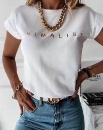 Tričko - kód 4078 - biela