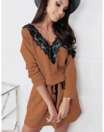 Šaty - kód 5111 - hnedá