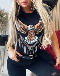 Tričko - kód 4375 - čierná