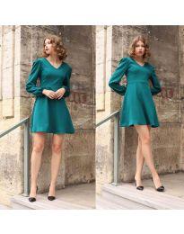 Šaty - kód 1478 - 3 - tyrkysová