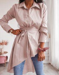 Košeľa - kód 6944 - svetlo ružová