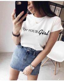 Tričko - kód 3580 - 1 - biela