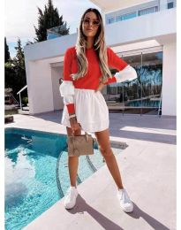 Šaty - kód 5024 - 8 - červená