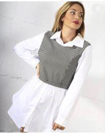 Košeľa - kód 9990 - 1 - biela