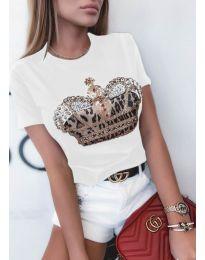 Tričko - kód 4648 - biela