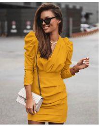 Šaty - kód 870 - hořčičná