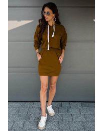 Šaty - kód 999 - hnedá