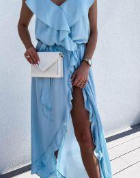 Šaty - kód 6432 - svetlo modrá
