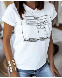 Tričko - kód 3024 - biela
