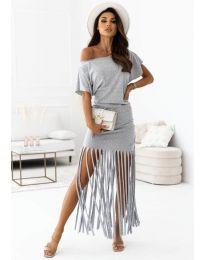 Šaty - kód 12003 - šedá