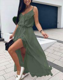Šaty - kód 6432 - olivovo zelená
