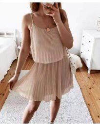 Šaty - kód 8596 - bežová