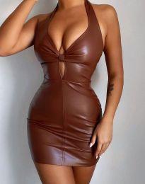 Šaty - kód 3842 - 2 - hnedá