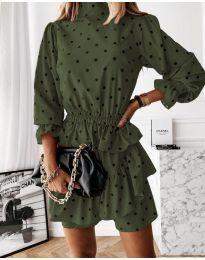 Šaty - kód 3665 - olivová  zelená