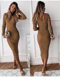 Šaty - kód 928 - hnedá
