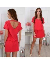 Šaty - kód 382 - červená