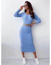 Šaty - kód 5878 svetlo modrá