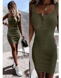 Šaty - kód 9458 - olivová  zelená