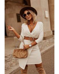 Šaty - kód 9977 - biela