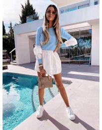 Šaty - kód 5024 - 9 - svetlo modrá