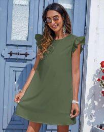 Šaty - kód 6261 - olivová  zelená