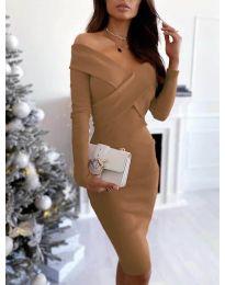 Šaty - kód 6130 - hnedá