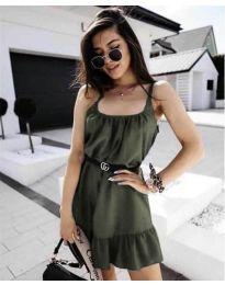 Šaty - kód 7768 - olivová  zelená