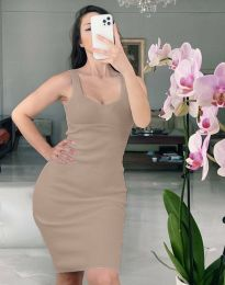 Šaty - kód 10122 - hnedá