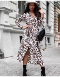 Šaty - kód 5555 - 3 - biela