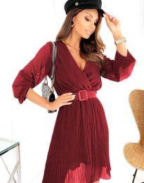 Šaty - kód 3497 - bordeaux