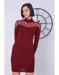 Šaty - kód 6099 - 2 - bordeaux