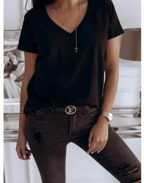 Tričko - kód 3638 - čierná