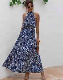 Šaty - kód 6214 - tmavomodrá