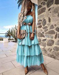 Šaty - kód 1543 - tyrkysová