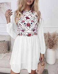 Šaty - kód 3482 - biela