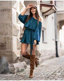 Šaty - kód 324 - tyrkysová