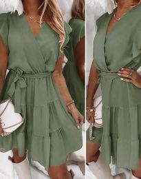 Šaty - kód 2345 - olivovo zelená