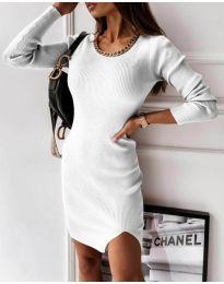 Šaty - kód 4545 - biela