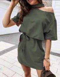 Šaty - kód 0256 - 3 - olivová  zelená
