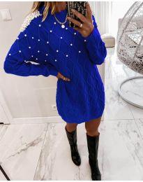 Šaty - kód 3480 - modrá