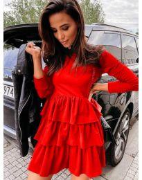 Šaty - kód 3109 - červená