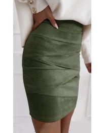 Sukňa - kód 7451 - olivová  zelená