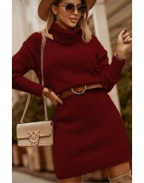 Šaty - kód 8668 - bordeaux