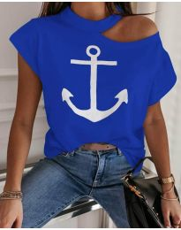 Tričko - kód 206 - modrý