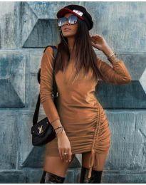 Šaty - kód 9545 - hnedá