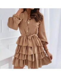 Šaty - kód 7356 - hnedá